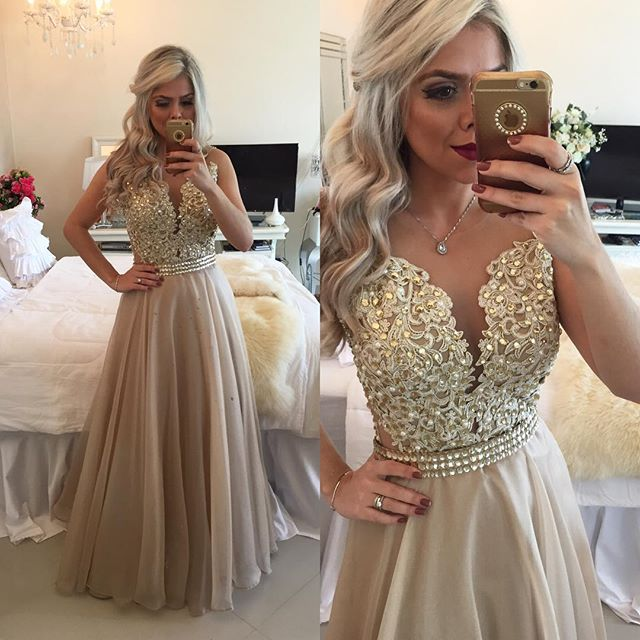 Sheer illusion prom dresses