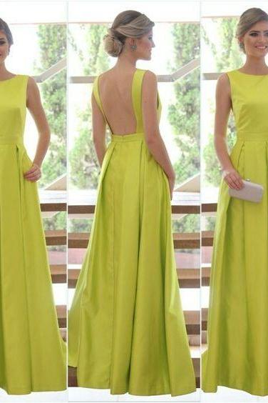 Green Prom Dress,Backless Prom Dress,Fashion Prom Dress,Sexy Party Dress,Custom Made Evening Dress