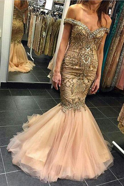 Beaded Prom Dress,Mermaid Prom Dress,Fashion Prom Dress,Sexy Party Dress,Custom Made Evening Dress