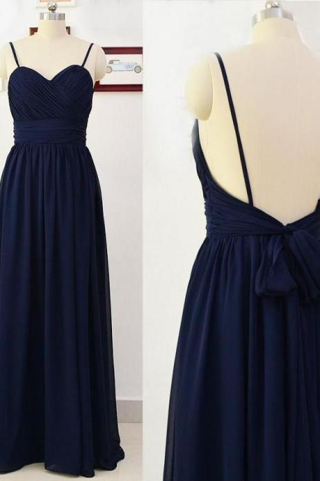 Navy Blue Prom Dress,Backless Evening Dress,Fashion Prom Dress,Sexy Party Dress,Custom Made Evening Dress