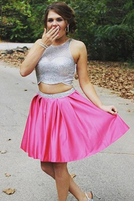 Two Piece Homecoming Dresses, Formal Dresses, Graduation Party Dresses, Banquet Gowns