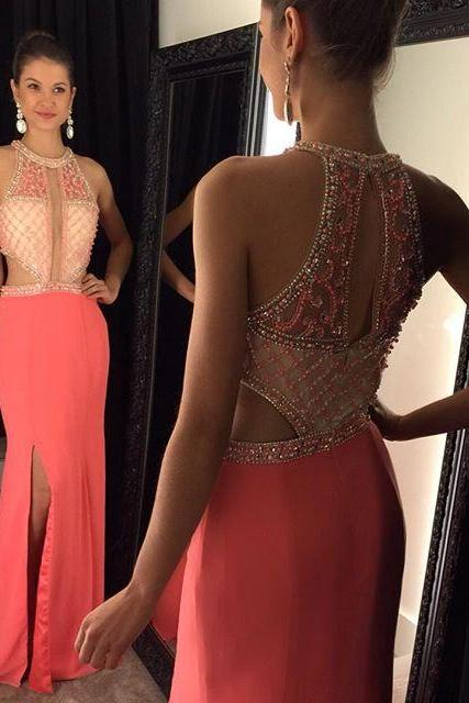 Cheap prom dresses 2017,Sexy Beading Halter Long Prom Dresses New Design vestido de festa longo Elegant Women Evening Dress Party Gown