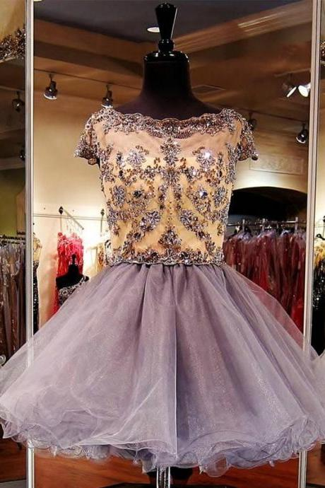 Cheap homecoming dresses 2017,Rhinestone Homecoming Dresses, Lace Homecoming Dresses,Cap Sleeve Homecoming Dresses, Stunning Homecoming Dresses,Juniors Homecoming Dresses,Short Prom Dresses,