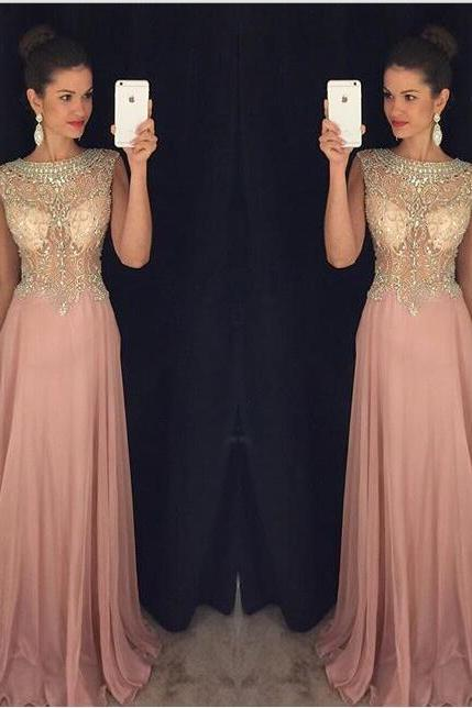 Cheap prom dresses 2017,Pink Prom Dresses,Pink Evening Gowns,Simple Formal Dresses,