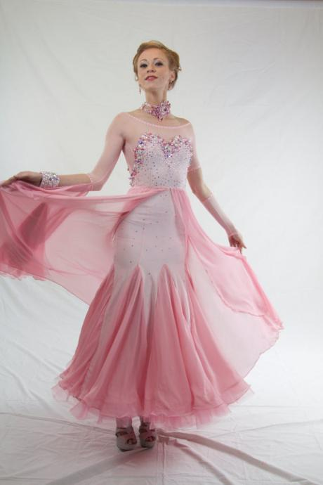 Cheap prom dresses 2017,2017 Sexy Pink Prom Dresses Mermaid Pink Sheer Bodice with