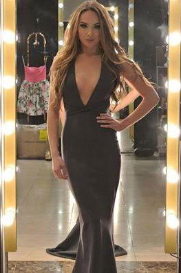 Cheap prom dresses 2017,Mermaid Evening Dresses, Black Evening Gowns, Sexy Prom Dresses,