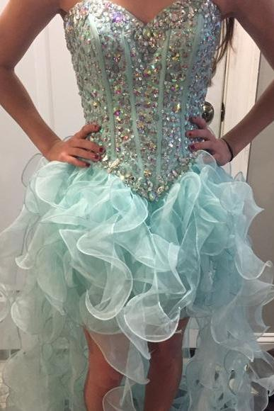 Cheap prom dresses 2017,Prom Dresses Sexy Luxury Sparkle Cheap Turquoise Prom Dress