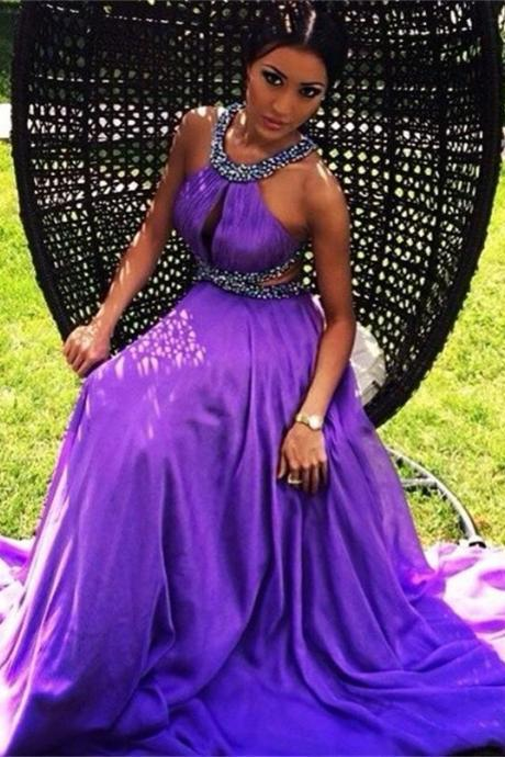 Cheap prom dresses 2017,Purple Prom Dresses chiffon evening dresses