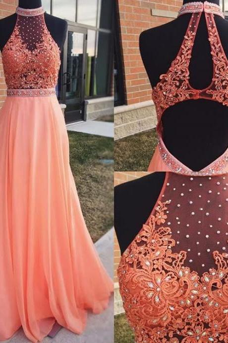 Cheap prom dresses 2017,Coral Prom Dresses Long,Prom Dresses 2017
