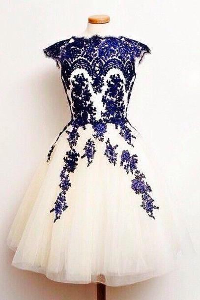 Charming Homecoming Dress, Applique Homecoming Dress,Lace Homecoming Dresses,Cheap Homecoming Dress