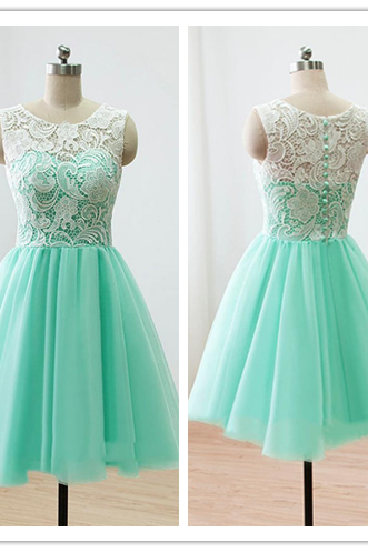 Lace Homecoming Dress, New Arrival Homecoming Dress, Mint Simple Homecoming Dress, Cheap Homecoming Dress,