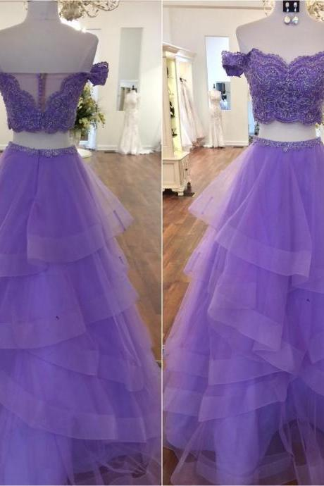 Sexy Prom Dresses,Two Piece Prom Dresses,Red Prom Party Dresses