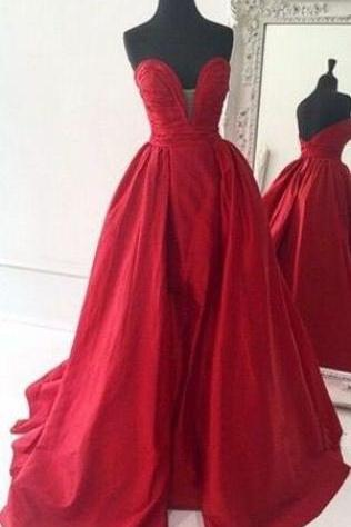 Gorgeous Red Sweetheart Ball Gown Prom Formal Dress Australia