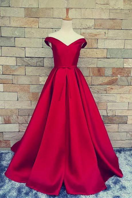 Marvelous Satin Off-the-shoulder A-Line Prom Dresses With Pleats 2017
