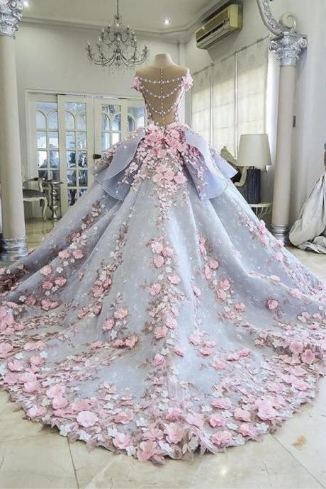 Modest Quinceanera Dress,Floral Bal.. Modest Quinceanera Dress,Floral Bal.. Modest Quinceanera Dress,Floral Bal.. Modest Quinceanera Dress,Floral Bal.. Modest Quinceanera Dress,Floral Ball Gown,Backless Prom Dress,Fashion Prom Dress,Sexy Party Dress, New Style Evening Dress