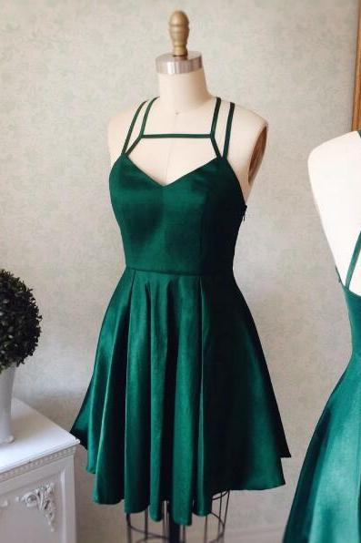 cheap homecoming dresses 2017 short ,Cute A-line Short Green Prom Dress Homecoming Dress 2017