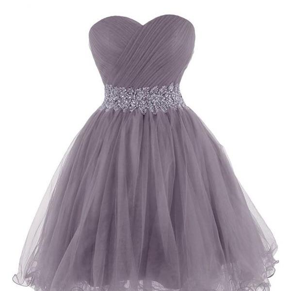 Sweetheart Homecoming Dresses,Sweetheart Tulle Cocktail Dress Homecoming Dress