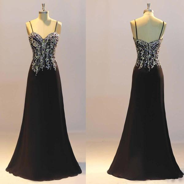 Cheap prom dresses 2017,Prom Dresses, Black Prom Dresses,Mermaid Prom Dresses, Crystal Evening Dresses ,